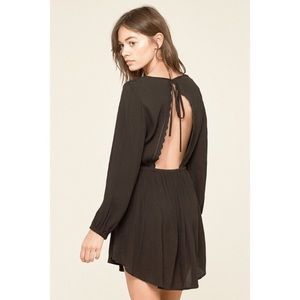 🖤NWT Amuse Society Black Open Back Lace Dress